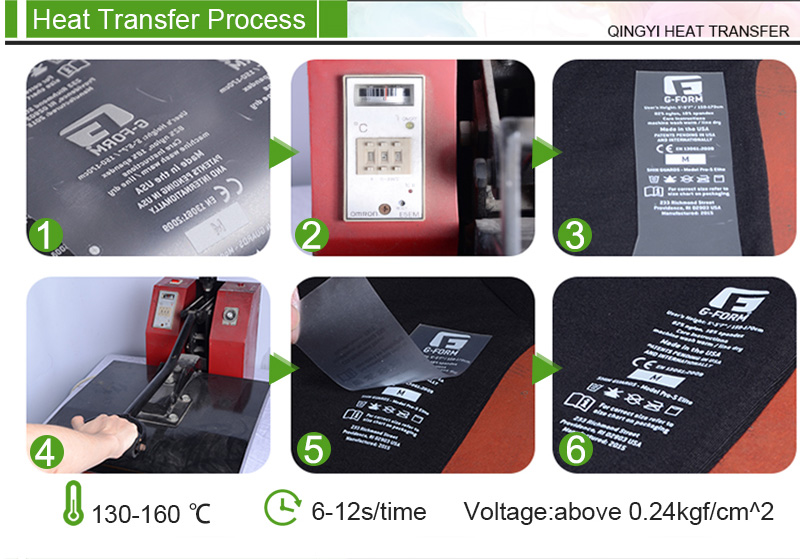 Care Label Heat Transfer Process