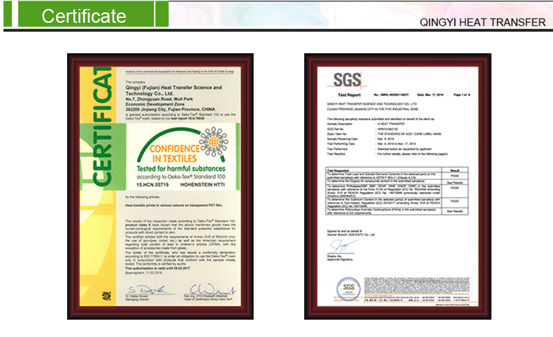 The SGS Environmental Certificate.